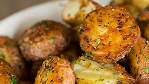 Garlic-Herb & Parmesan Roasted Red Potatoes