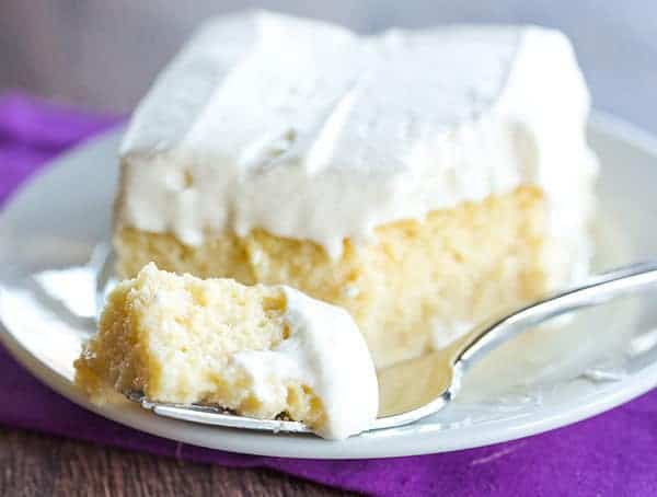 Tres Leches Cake - A simple recipe (no whipping egg whites!) for a ...
