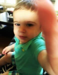 Pseudo toddler selfie