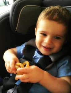 Joseph in the car - 17 months