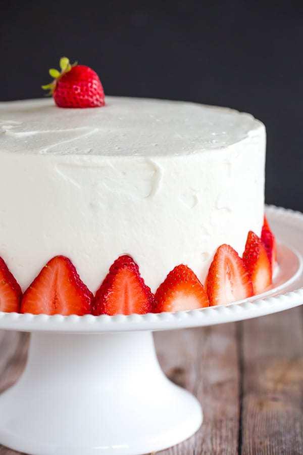 Strawberry Layered Yellow Cake