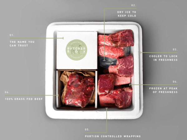 ButcherBox - A fabulous home delivery service for grass-fed, hormone free beef and poultry.