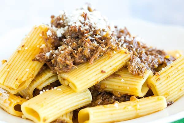 Pasta Genovese: This traditional Italian beef ragu is amped up with onions and made incredibly easy in a slow cooker. Perfect for Sunday dinner!