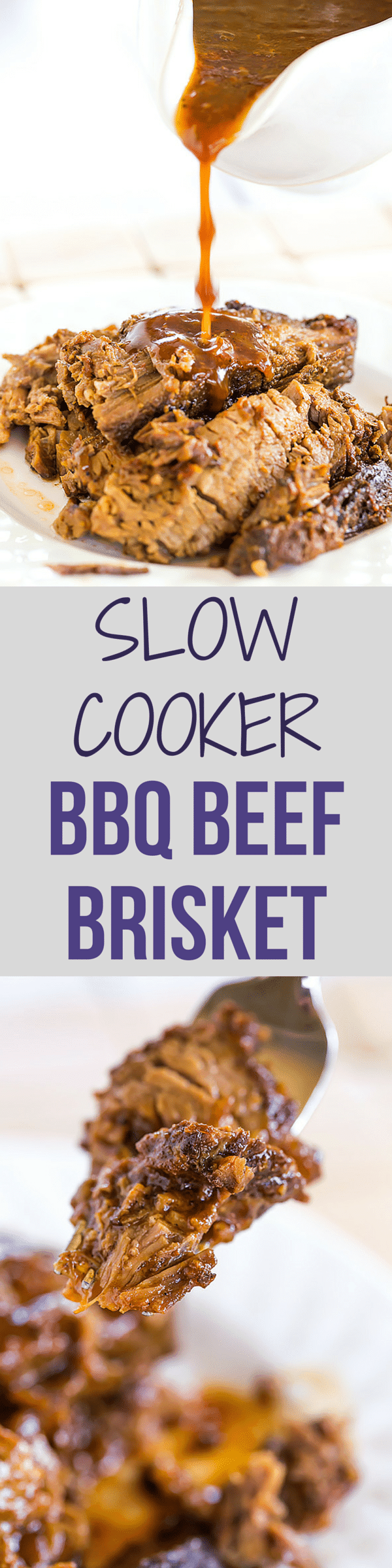 This slow cooker beef brisket is incredibly easy, cooks itself, and ...