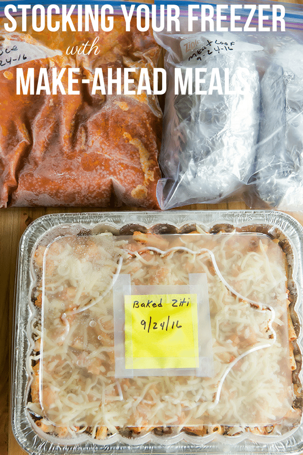 How to Stock Your Freezer with Make-Ahead Freezer Meals - Favorite recipes and tips on keeping everything fresh!