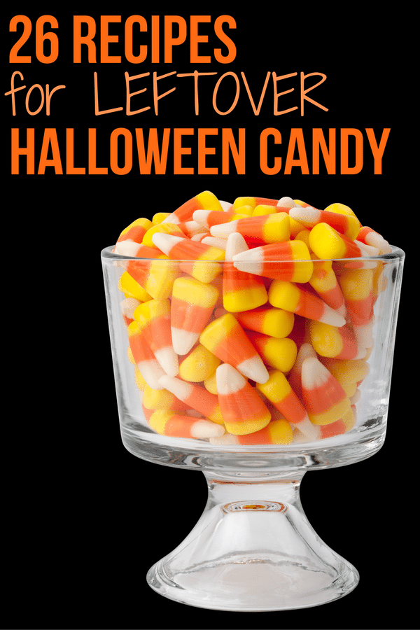 26 Recipes for Leftover Halloween Candy - Repurpose that extra candy into some fabulous desserts!