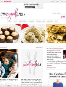 Brown Eyed Baker Site Redesign - December 2016 | browneyedbaker.com