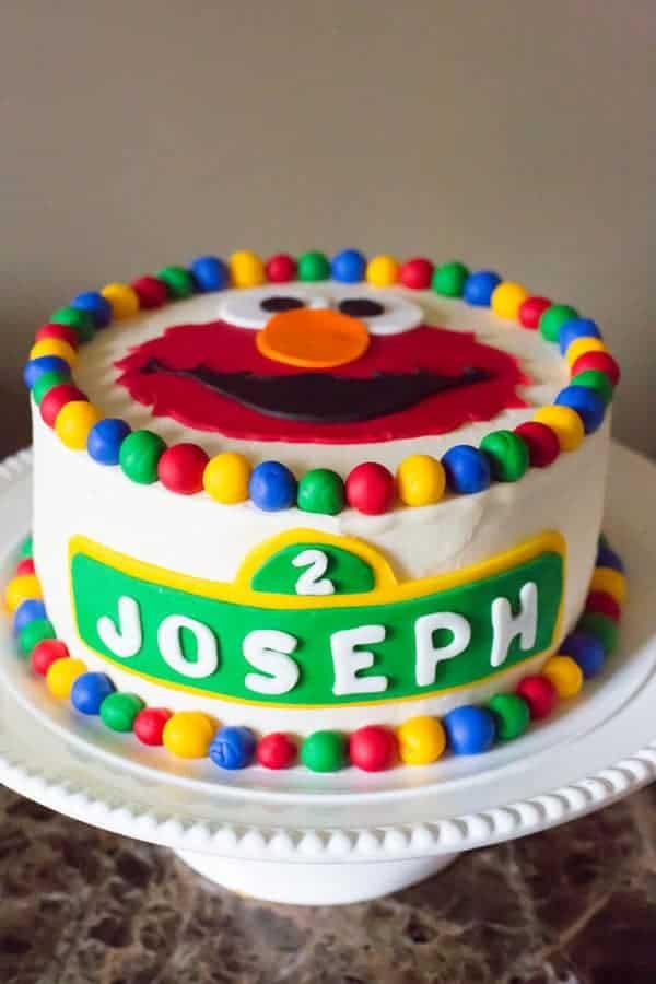 Elmo Birthday Cake | Sesame Street Themed 2nd Birthday Party