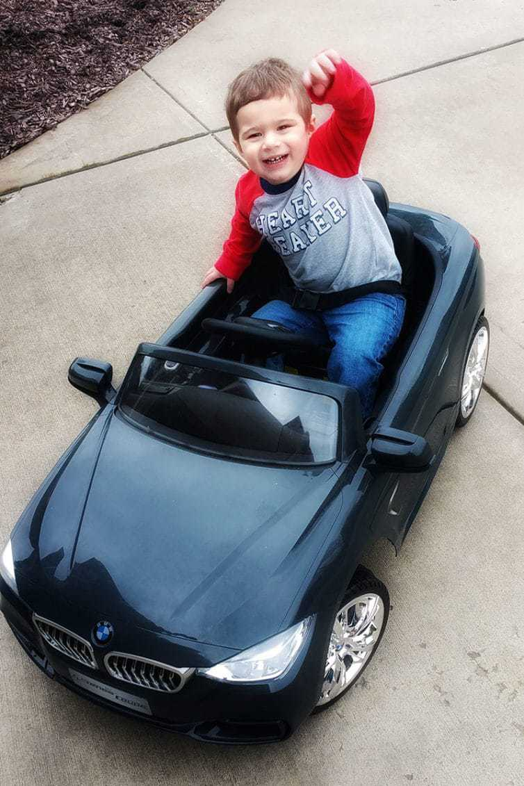 Joseph riding around in his car!
