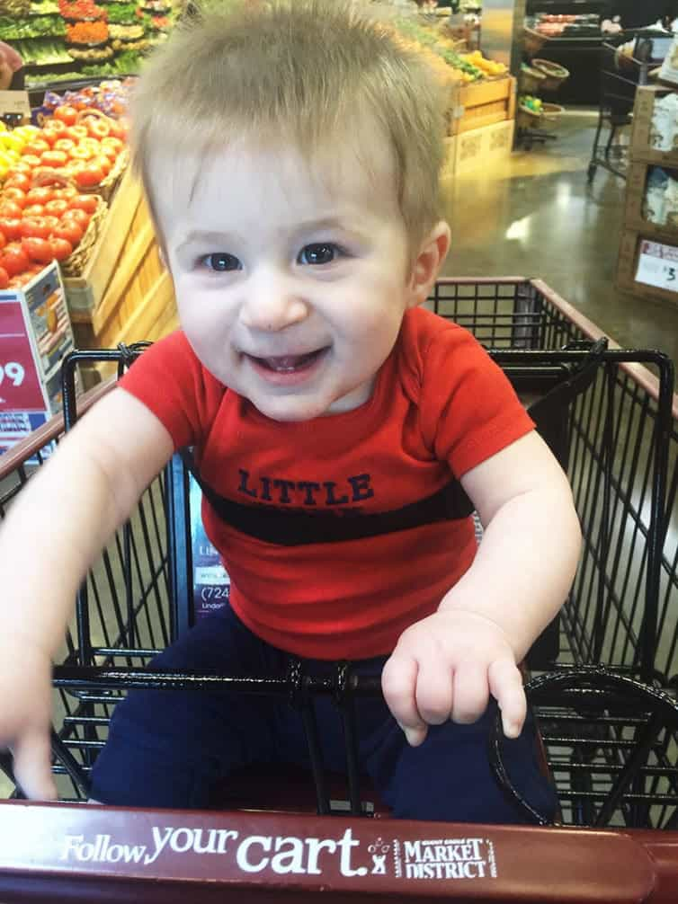Dominic at the grocery store