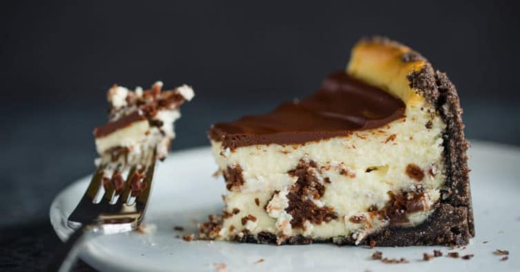 Brownie Mosaic Cheesecake | Brown Eyed Baker