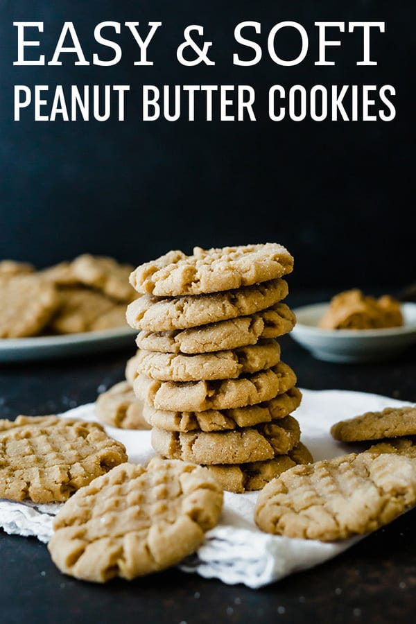 Classic Peanut Butter Cookies! Straight from my mom's recipe box, these are the BEST peanut butter cookies - they are easy to make and stay wonderfully soft. #browneyedbaker #peanutbutter #cookies #peanutbuttercookies #cookierecipe
