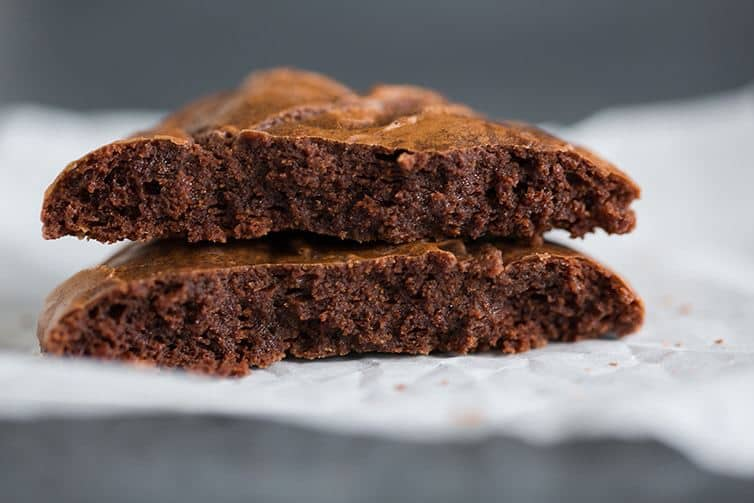 An inside look at the dense and fudgy Better-Than-Brownies Chocolate Cookies