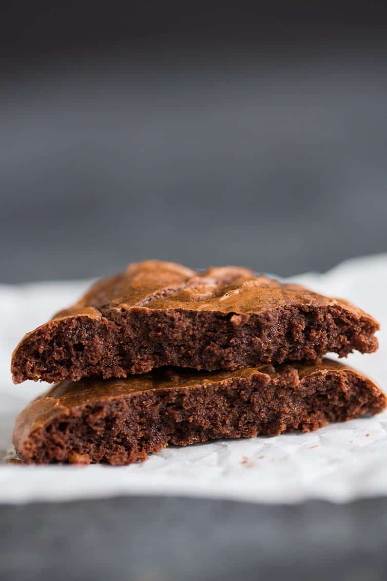 Thick, dense and fudgy Better-Than-Brownies Chocolate Cookies