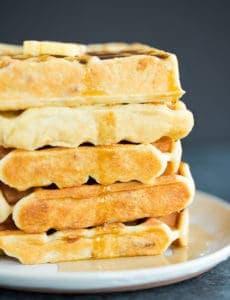 Brown Sugar-Bacon Buttermilk Waffles!