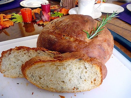 Potato Rosemary Bread Sliced