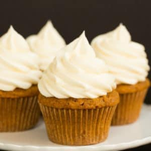 Pumpkin Cupcake Recipes pumpkin cupcakes with cream cheese frosting | brown eyed baker