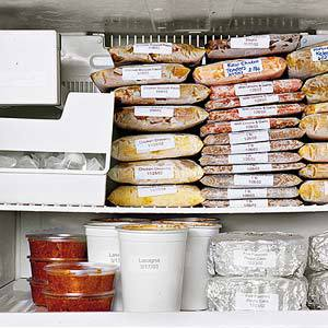 How to stock and organize your freezer brown eyed baker - Temperatura freezer casa ...
