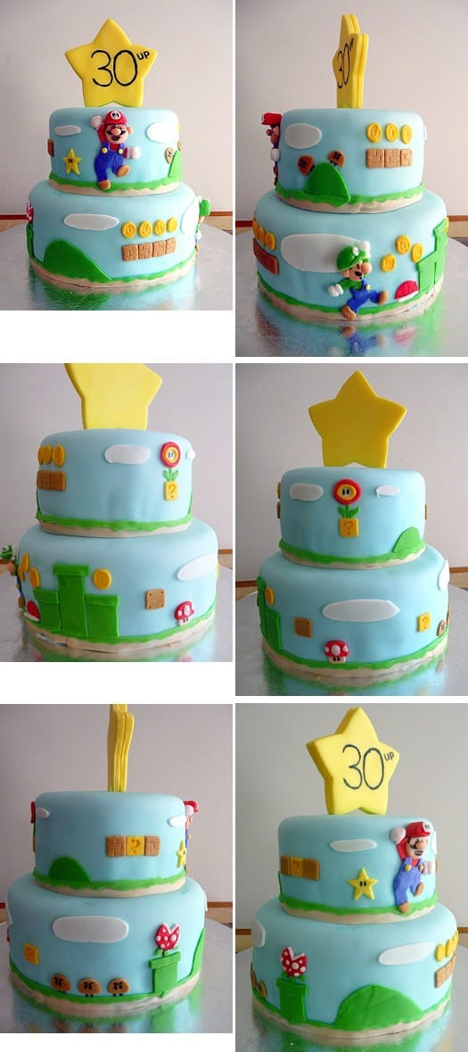 Super Mario Brothers Birthday Cake Brown Eyed Baker