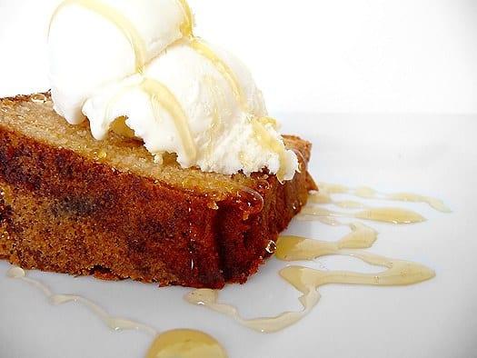 Honey-Vanilla Sour Cream Pound Cake