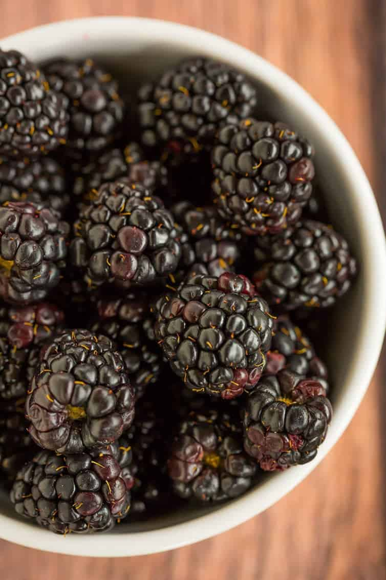 A big bowl of fresh blackberries!