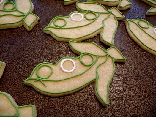 Pea in a Pod Cookies - Outlines