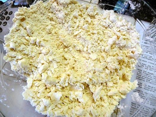 Homemade Pop-Tarts: Dough with butter cut in