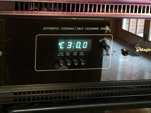 Oven self-cleaning after baking disaster