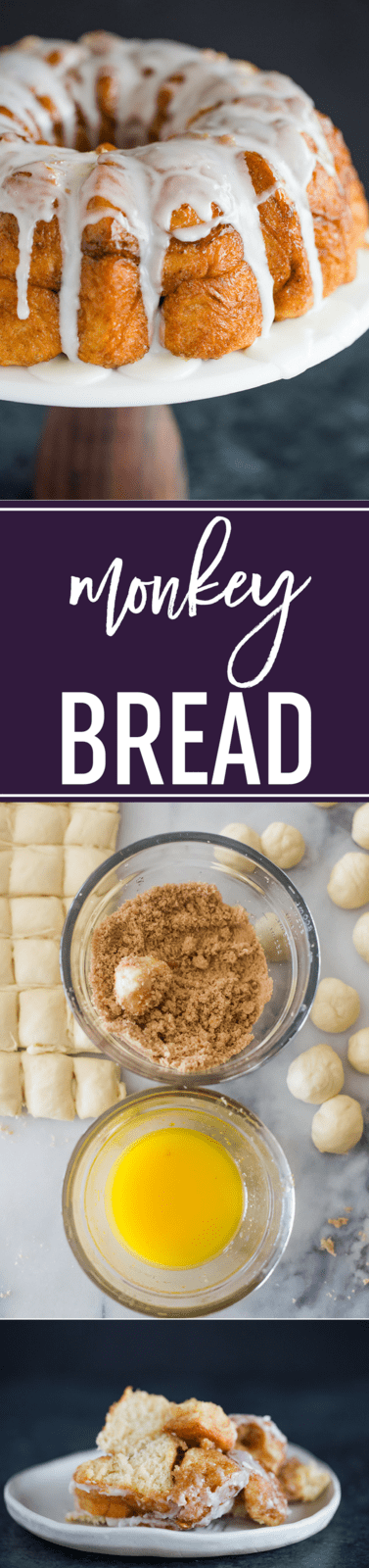 Monkey Bread FROM SCRATCH! :: A completely homemade version of monkey bread - no canned biscuit dough here! #homemade #recipe #monkeybread #brunchrecipe