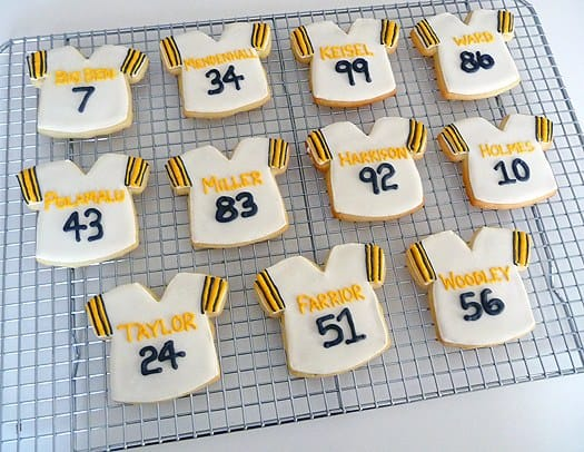 Pittsburgh Steelers Football Jersey Cookies