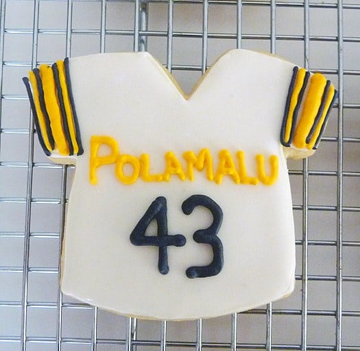 Troy Polamalu jersey cookie