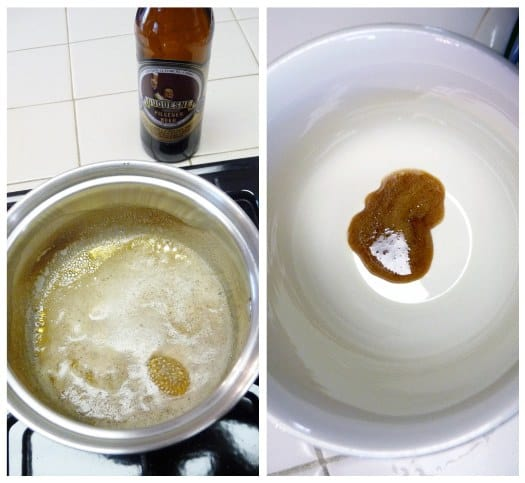 Beer and Pretzel Caramels - Ale Reduction