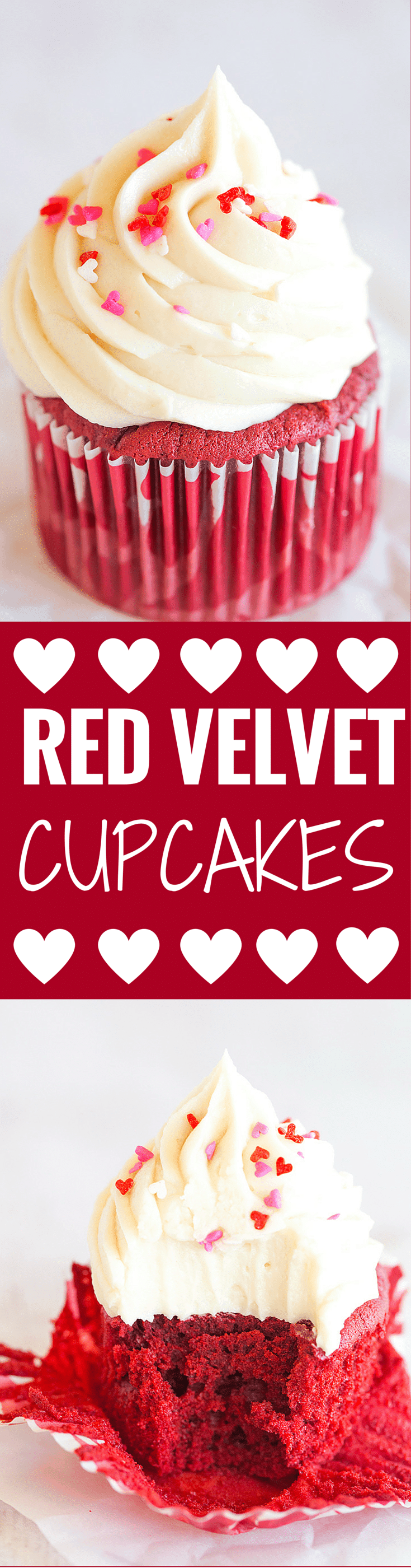 Red Velvet Cupcakes With Cream Cheese Frosting Brown