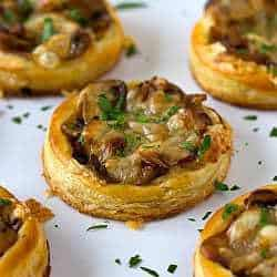 Caramelized Onion Mushroom Amp Gruyere Tartlets Brown