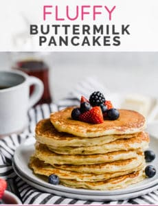 Fluffy Buttermilk Pancakes Recipe Brown Eyed Baker