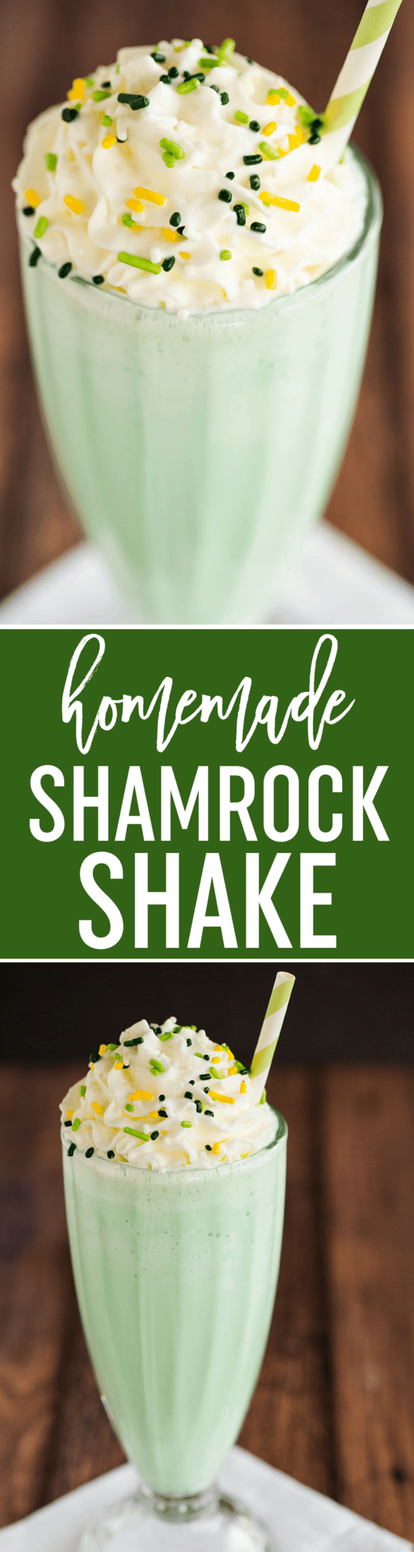 Shamrock Shake Recipe - A homemade spin on the famous St. Patrick's Day-inspired minty green milkshake from McDonald's.