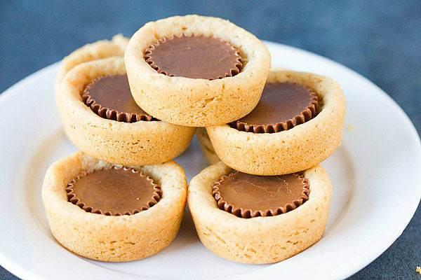 Peanut Butter Cup Cookies :: Top 10 List: Favorite Cookie Recipes | browneyedbaker.com