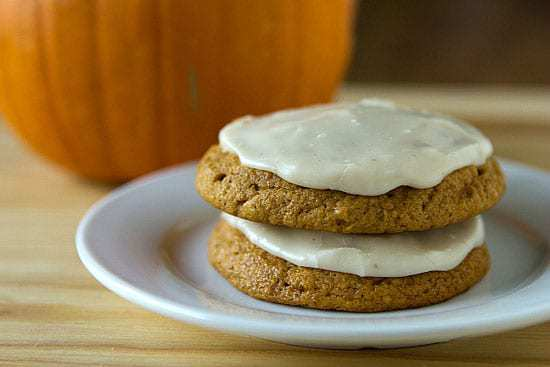 Pumpkin Cookies with Brown Butter Icing :: Top 10 List: Favorite Cookie Recipes | browneyedbaker.com