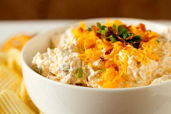 Top 10 Best Appetizer Recipes >> Loaded Baked Potato Dip | browneyedbaker.com