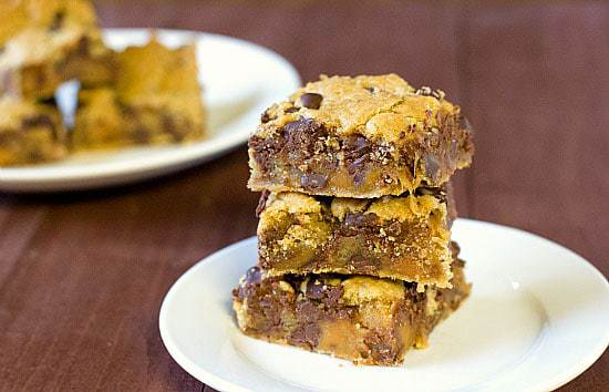 Top 10 Best Bar Recipes >> Salted Caramel Chocolate Chip Cookie Bars | browneyedbaker.com