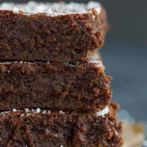 Sweet and Salty Brownies - Up close and personal with the best salted caramel brownies!