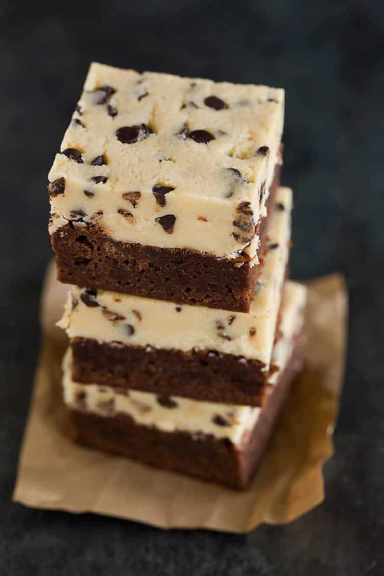 Chocolate Chip Cookie Dough Brownies | Brown Eyed Baker
