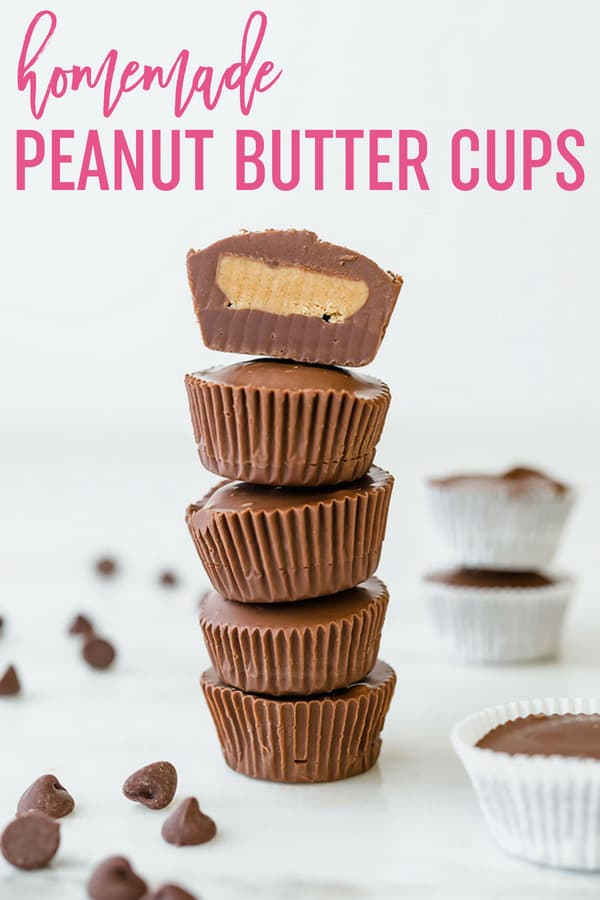Homemade Peanut Butter Cups :: A homemade version of Reese's peanut butter cups. This easy recipe comes together quickly and is great for gifting or stashing in your freezer! #browneyedbaker #candy #chocolate #peanutbutter #peanutbuttercups #reeses #pb