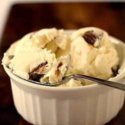 Two-Ingredient Ice Cream: Reese's Mini Peanut Butter Cup Ice Cream