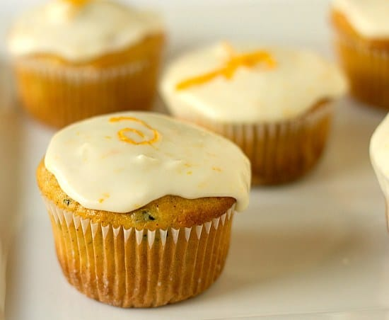 Zucchini-Pineapple Cupcakes with Orange Sour Cream ...