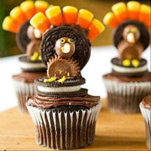 Thanksgiving Turkey Cupcakes Brown Eyed Baker - Cupcakes for thanksgiving decorating ideas