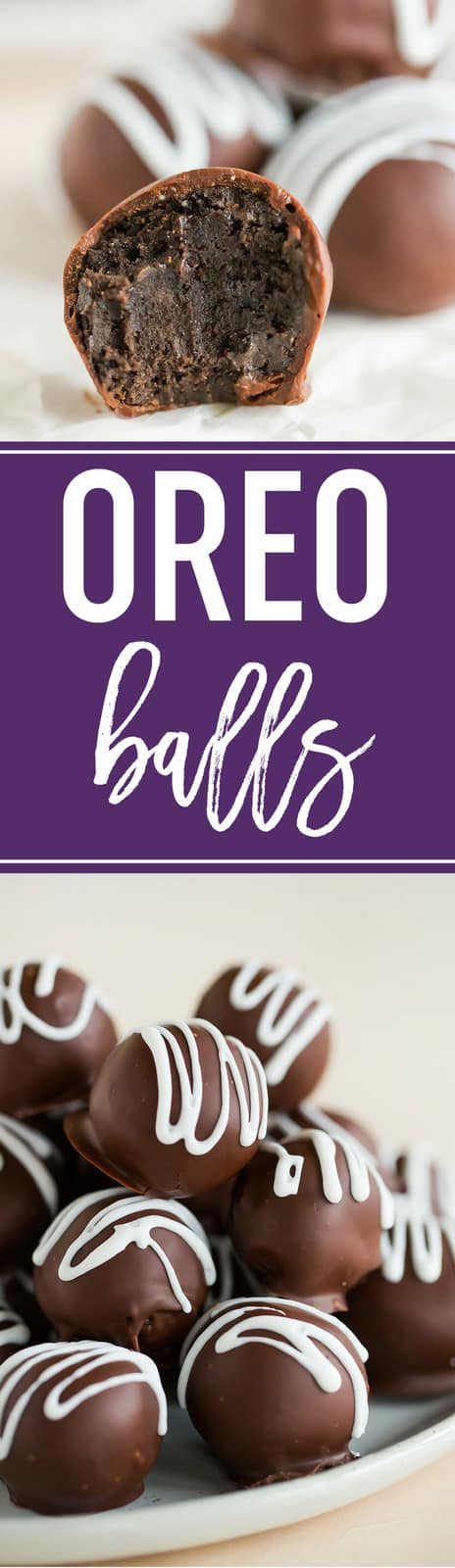 OREO Balls (or Oreo truffles, if we're being fancy) is a total classic and a must for holiday cookie trays! #truffles #Oreos #balls #christmas #holidays #baking #candy #creamcheese