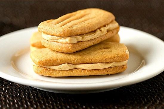Peanut Butter Sandwich Cookies | Brown Eyed Baker