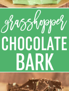 This Grasshopper Chocolate Bark combines the chocolate and mint flavors from the famous cocktail without the alcohol - perfect for a St. Patrick's Day party!
