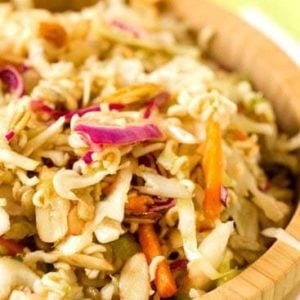 Chinese Coleslaw - An easy side dish perfect for summer picnics or light lunches!